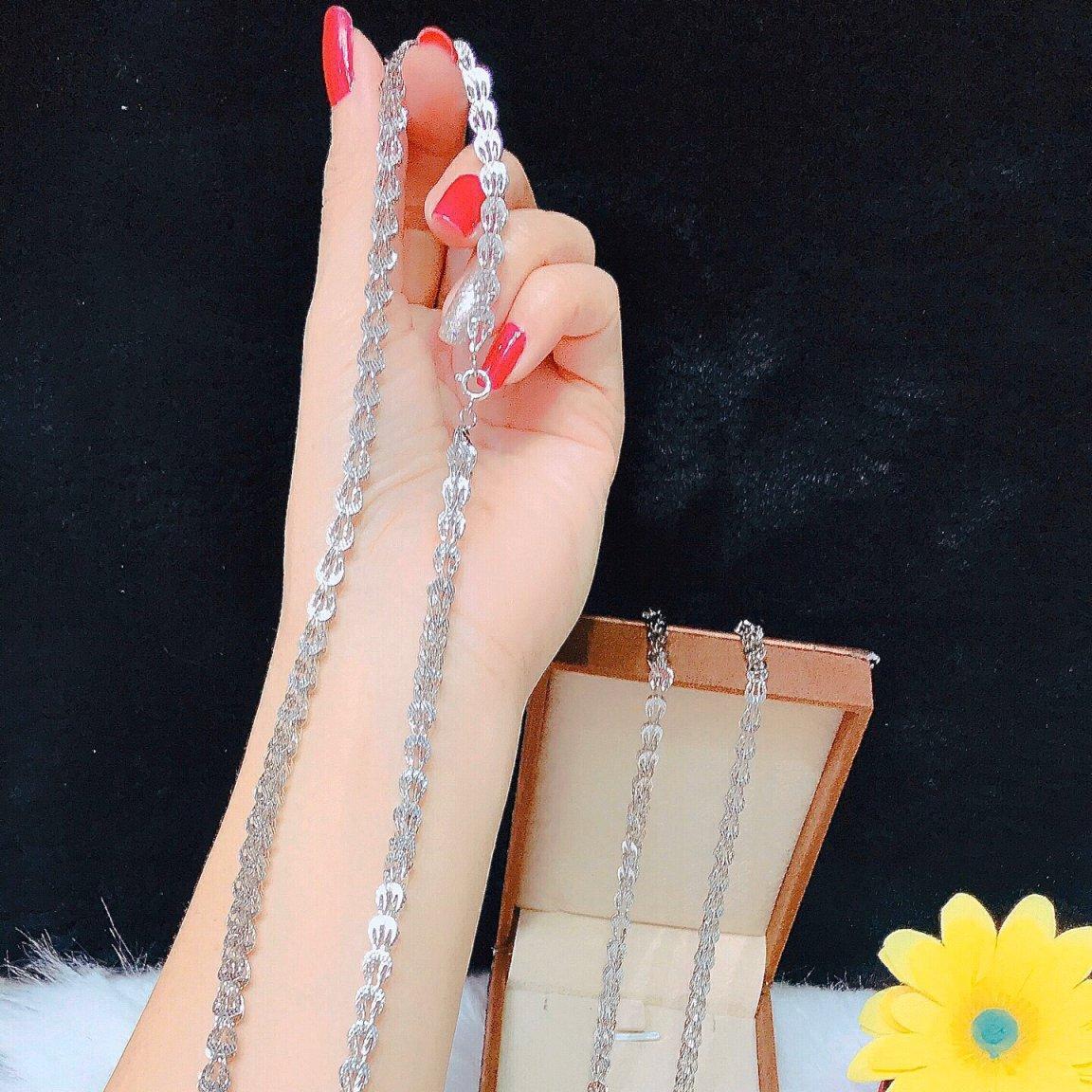 [ SIÊU GIẢM GIÁ ] Dây chuyền bạch kim nữ Minshop KD09012013 - dùng đi tiệc cực kì sang chảnh