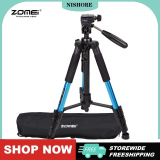 ZOMEI Q111 142cm 56 Lightweight Portable Aluminum Alloy Camera Travel Tripod with Quick Release Plate Carry Bag for Canon Nikon Sony DSLR Smartphone thumbnail