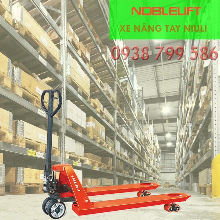 Xe nâng tay thấp 2.5 tấn, xe nâng tay thấp 2500kg NIULI
