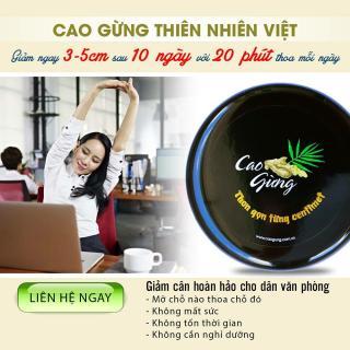 Cao Gừng Tan Mỡ Thiên Nhiên Việt - Có Tem Chống Hàng Giả thumbnail