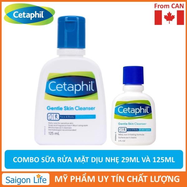 Combo Sữa rửa mặt Cetaphil Gentle Skin Cleanser 29ml và 125ml tốt nhất