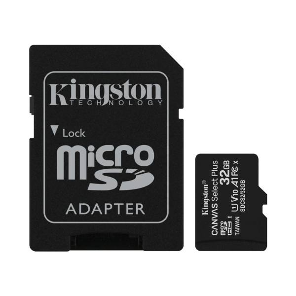 Thẻ Nhớ MicroSDHC Kingston Canvas Select Plus 32GB Class 10 U1 100MB/s SDCS2/32GB (Kèm Adapter)