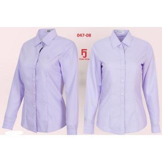 Áo sơ mi nữ tay dài - công sở Thái Hòa - Mã 047-08 (Màu tím) thumbnail