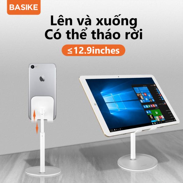 BASIKE Giá đỡ điện thoại di động Giá đỡ điện thoại Hợp kim nhôm có thể điều chỉnh 0 ° ~ 45 ° Tấm chống trượt silicon chống trượt Chân đế gập máy tính bảng đa năng cho Samsung Xiaomi Oppo Vivo Huawei Y9 iPad BASIKE (UP26)