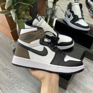 Giày Jordan 1 Nâu Cao Cổ, Giày JD1 Gót Nâu Cao Cổ Nam Nữ mới 2021 thumbnail