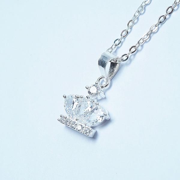 QMJ Dây chuyền bạc 925 cao cấp Vương miện đá  nạm đá tinh tế thiết kế độc lạ, thích hợp với cô nàng thích sự độc và lạ trang sức thời trang nữ đẹp - QKL0663