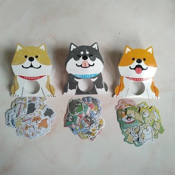 Mua Combo 3 Bộ 30 Miếng Sticker trang trí chó Shiba Inu