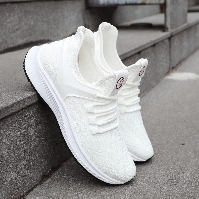 Giày Sneaker thể thao Nam nữ thời trang giá rẻ phong cách Hàn quốc mới nhất năm 2019-2020-  004 -trắng