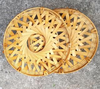 Rế Cơm Niêu, Dế nồi bằng tre gồm nhiều kích thước 20 cm, 25cm Rế chụp ảnh, trang trí thumbnail