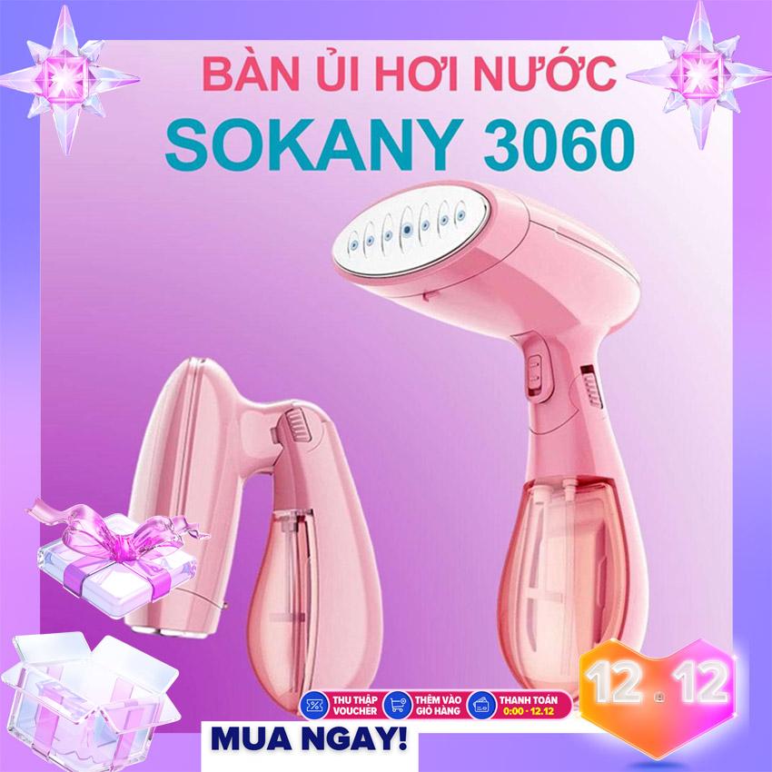 Bàn là hơi nước cầm tay sokany 3060 - Bàn là ủi sấy khô, bàn là hơi nước đứng, phun sương, làm nóng nhanh , có thể gấp gọn khi không sử dụng BH 1 ĐỔI 1 BƠI TECH SMART HCM