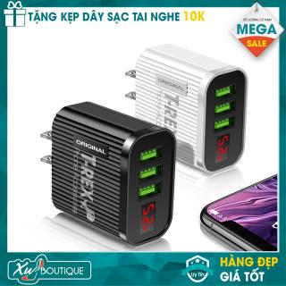 Củ Sạc Điện Thoại LED 3.1A Cao Cấp (3 Đầu USB) Dùng Cho Thiết Bị Iphone Samsung Android thumbnail