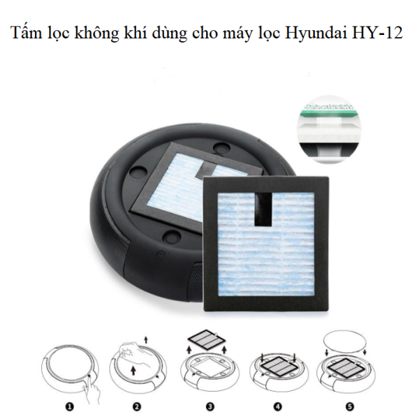 Bảng giá Tấm lọc không khí dùng cho máy khử mùi Hyundai H12-L