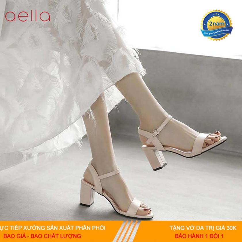 Giầy cao gót nữ 7 phân đế vuông quai ngang AELLA347 - Gót vuông dáng công sở - Giày cao gót nữ 7 phân đầy duyên dáng giá rẻ