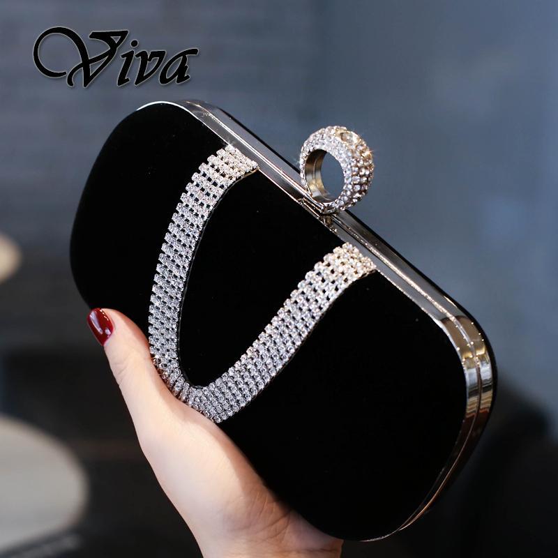 Clutch Female 2019 New Style Evening Bag Shiny Diamond Set Debutante Elegant Formal Dress Banquet Womens Handbag Small Clutch Bag