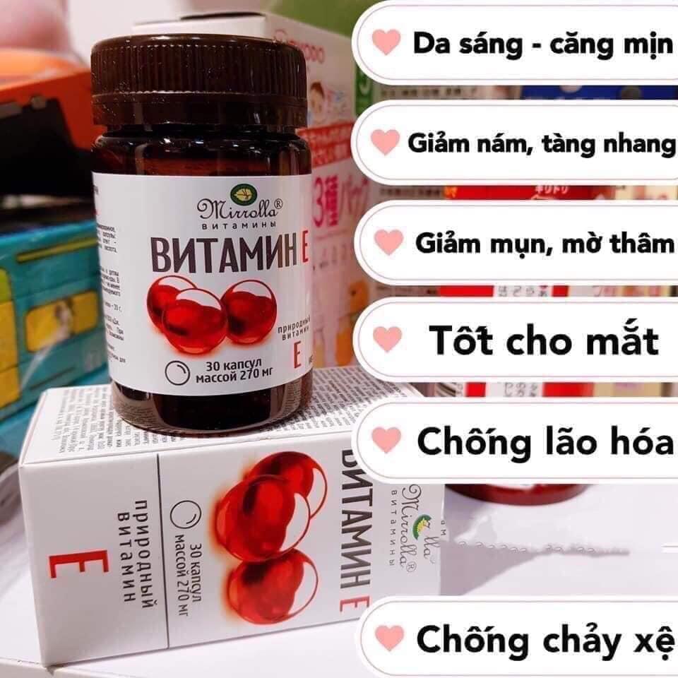 Viên Uống Vitamin E Đỏ Nga Dưỡng Da Ngừa Lão Hóa Da Dạng Lọ 30 Viên Có Giá Tốt