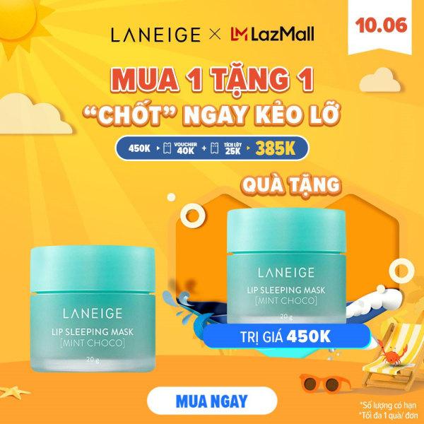 [Mua 1 tặng 1 chỉ 10.06] Mặt nạ dưỡng ẩm tối ưu Laneige Lip Sleeping Mask Mint Choco 20g