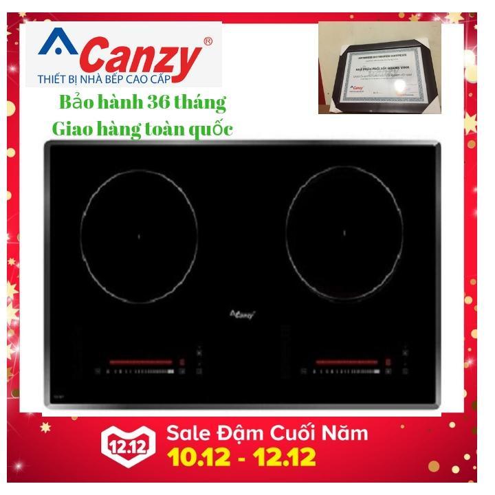 Bếp từ đôi Canzy CZ 06I New 2021, Inverter tiết kiệm điện, bảo hành 36 tháng