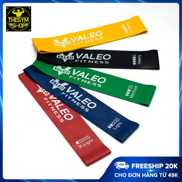 Dây mini band, dây cao su kháng lực resistance band miniband tập gym Valeo hỗ trợ tập chân mông (The Gym Shop phân phối)