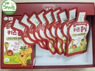 Sante365 - Thực Phẩm Bảo Vệ Sức Khỏe Hồng Sâm Trẻ Em Hộp nhỏ 20 ml túi ( 7.5%) x 10 gói (Kids Red Ginseng) thumbnail
