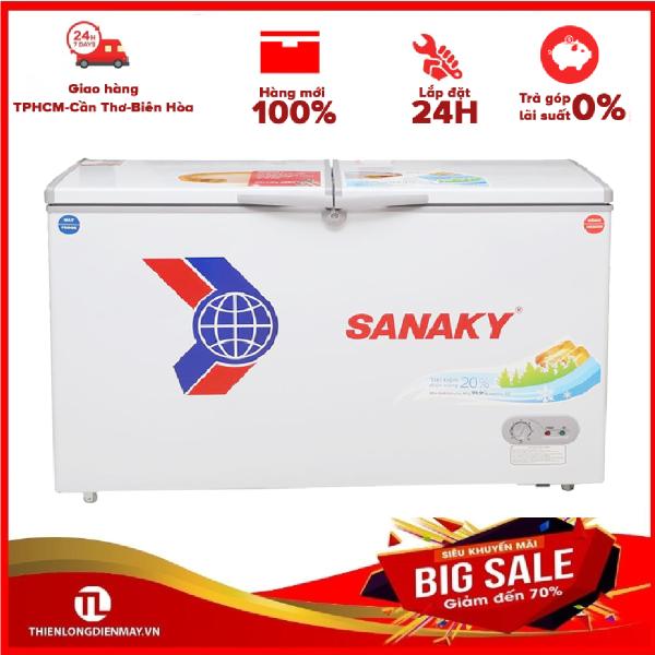 Ả GÓP 0% - Tủ đông Sanaky 2 ngăn 365 lít VH-5699W1 - Bảo hành 12 tháng