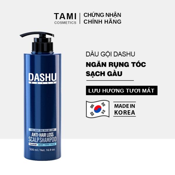 Dầu gội ngăn rụng tóc dành cho nam DASHU Anti - Hair Loss Scalp Shampoo Phục hồi tóc hư tổn Sạch gàu và ngứa dầu gội Hàn Quốc TM-DG01 giá rẻ