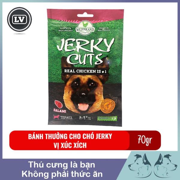 Bánh thưởng cho chó Jerky 70gr - Vị xúc xích