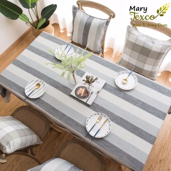 Khăn trải bàn Mary Texco cotton thêu trang trí bàn ăn đậm chất vintage - KBCC01