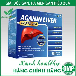 Viên uống bổ gan AGANIN LIVER forte 400 - tăng cường chức năng gan, giải độc gan, thanh nhiệt cơ thể -Hộp 60 viên thumbnail