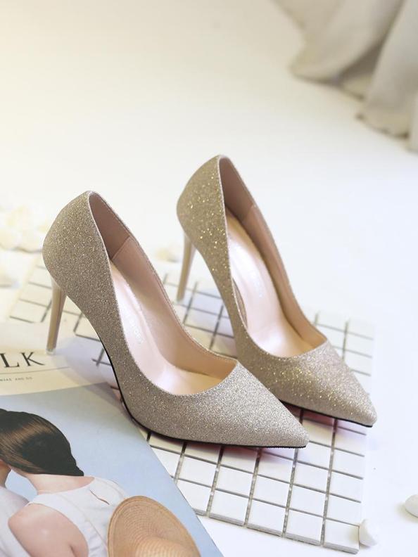 Giày cao gót ánh kim 9p cực xinh xắn giá rẻ