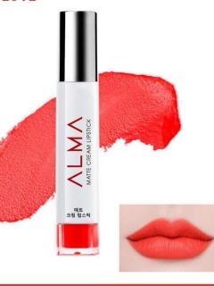 Son kem lỳ Alma matte cream lipstick tặng kèm son dưỡng môi ALMA thumbnail