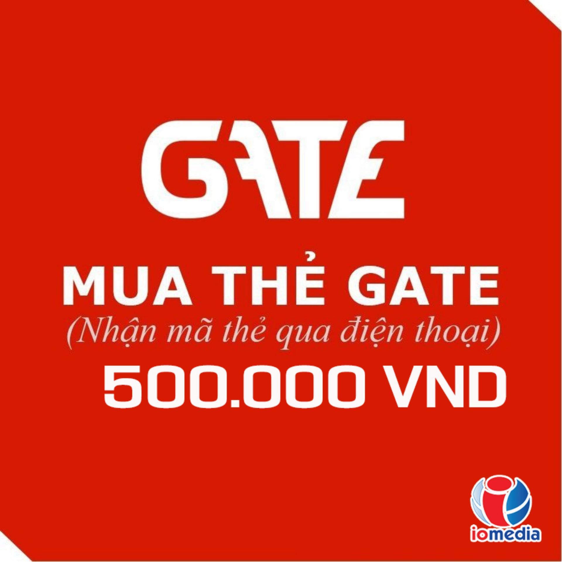Mã Thẻ Game Gate 500.000  - Nhận Mã Qua SMS - Siêu Nhanh Giảm Cực Đã