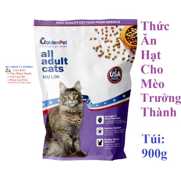 THỨC ĂN HẠT CHO MÈO GoldenPet All all adult cats Túi 900g Xuất xứ USA (Mỹ)