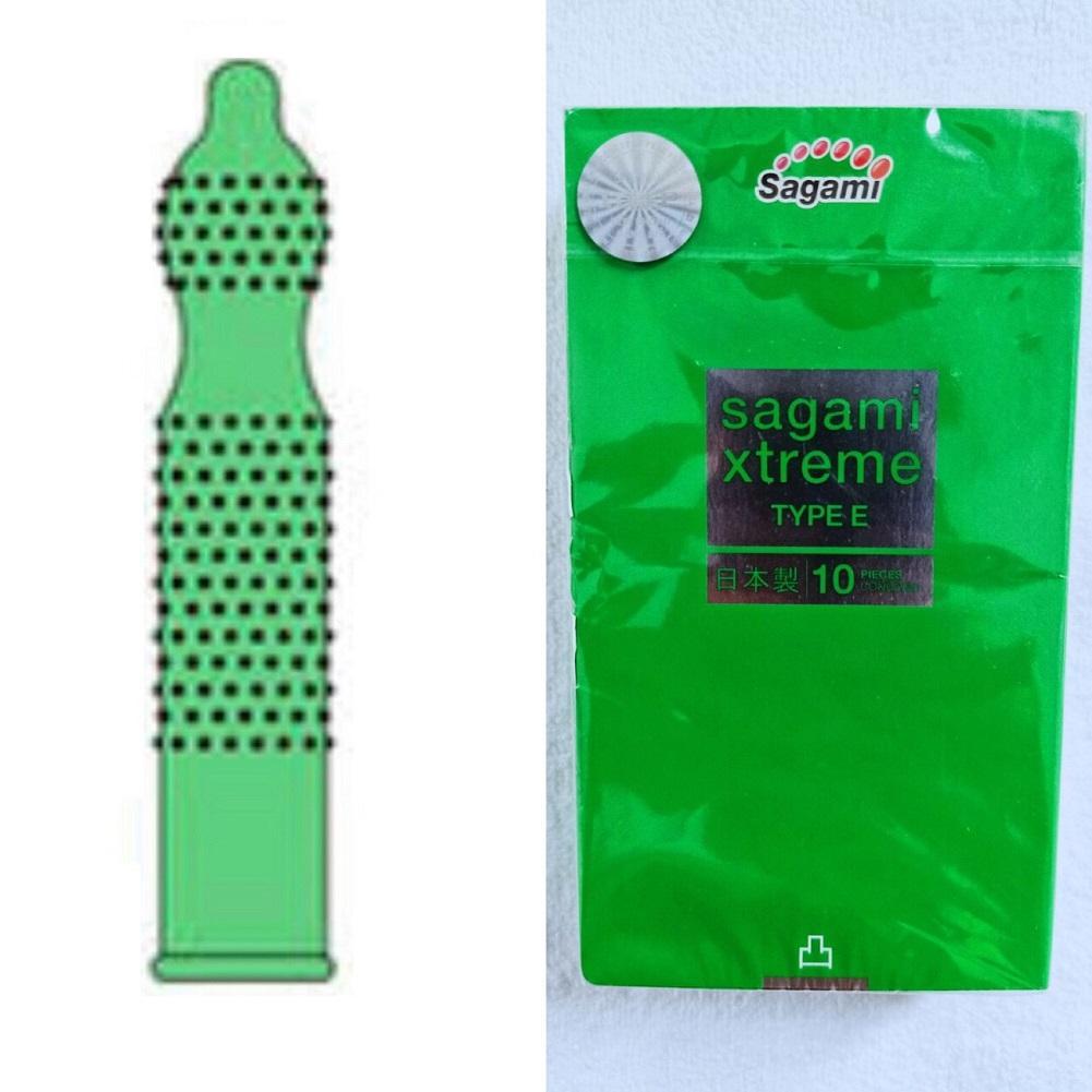 Bao cao su Sagami Xtreme Green (Hộp 10) nhập khẩu