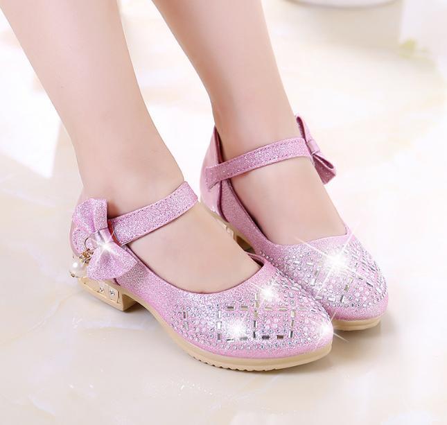Giá bán Giày cao gót bé gái công chúa gắn nơ xinh
