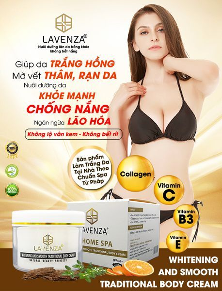 KEM BODY TRUYỀN TRẮNG SIÊU MỊN - WHITENING AND SMOOTH TRADITIONAL BODY CREAM NATURAL BEAUTY PRINCESS