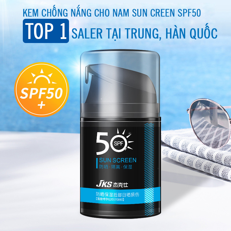 Kem chống nắng Sun Creen 50g dành cho nam/ Kem chống nắng da mặt/ Kem chống nắng cho da mụn