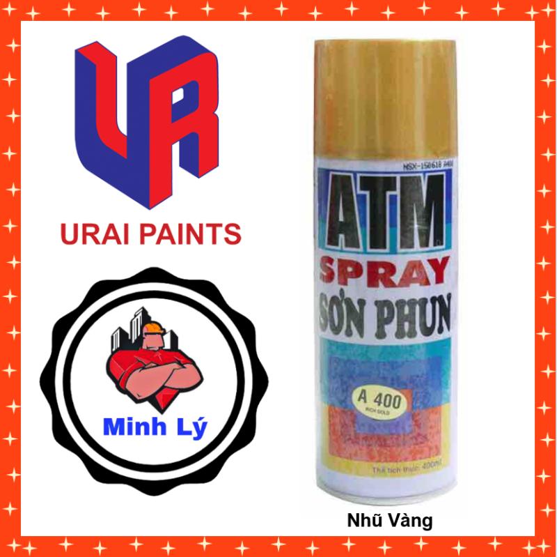 Sơn Phun Nhũ Vàng A 400 ATM Spray Cao Cấp (400ml/chai)