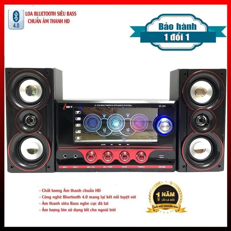 Dàn-loa-âm-thanh-karaoke-gia đình -Loa vi tính - Loa vi tính hát karaoke có kết nối Bluetooth-Loa karaoke -Loa Bluetooth Siêu Trầm Công Suất Lớn - Nghe miễn chê với Âm thanh chuẩn HD - Hàng Nhập Khẩu Cao Cấp - Loa ISKY - 385