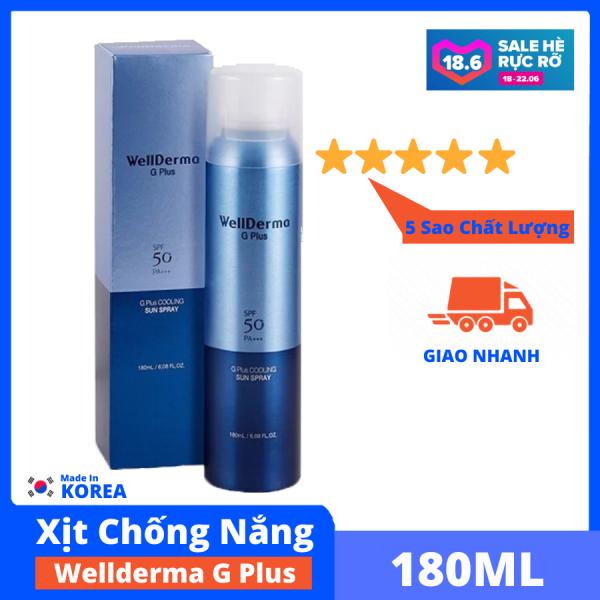 Xịt Chống Nắng Wellderma G PLus Cooling Sun Spray mát da, tăng độ ẩm, cung cấp khoáng, làm dịu da, bảo vệ da CiCi88 tốt nhất