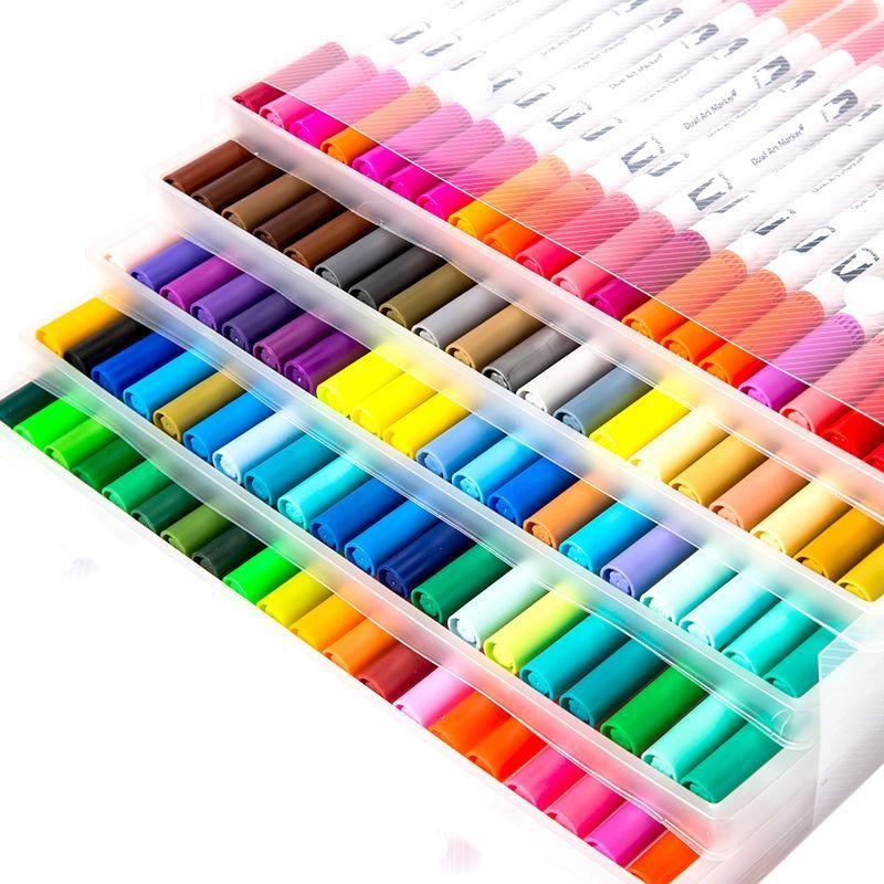 Mua Bút tô màu nước 2 đầu - set 80 màu