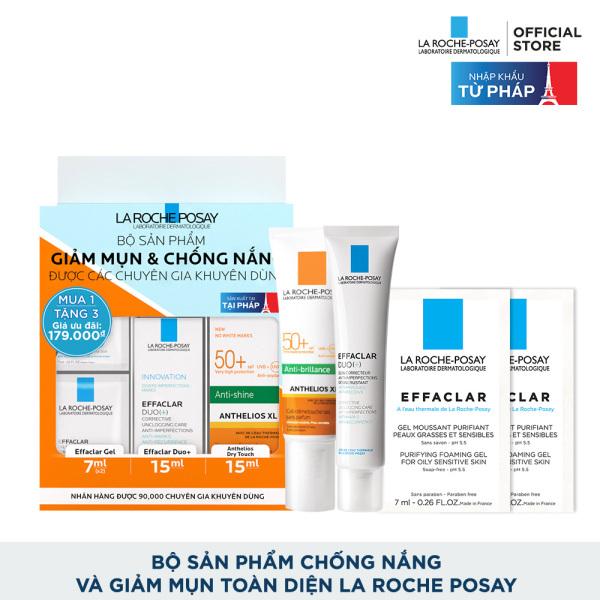 Bộ sản phẩm chống nắng và giảm mụn toàn diện La Roche Posay tốt nhất