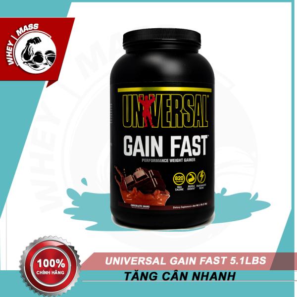 Sữa Hỗ Trợ Tăng Cân Tăng Cơ Nhanh Cho Người Tập Gym Universal Gain Fast 5,1lbs (2,3kg) - Chính hãng