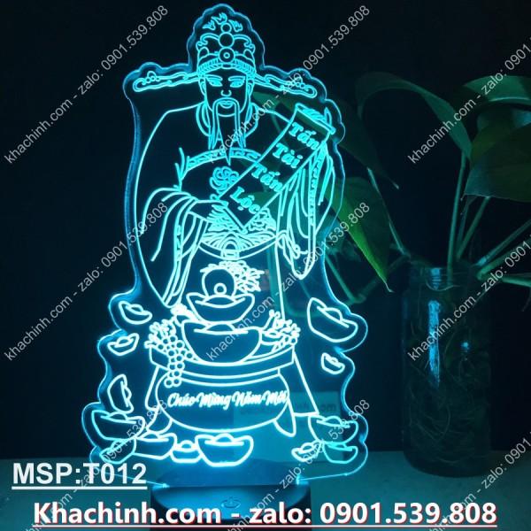 Bảng giá Đèn led khắc tượng Thần Tài T012 tấn tài tấn lộc, chúc mừng năm mới, thọ tỷ nam sơn, đèn thờ, tranh thư pháp, Đèn led khắc hình theo yêu cầu, đèn khắc hình cá nhân,quà tặng sinh nhật, quà cưới,tranh thư pháp,đèn để bàn