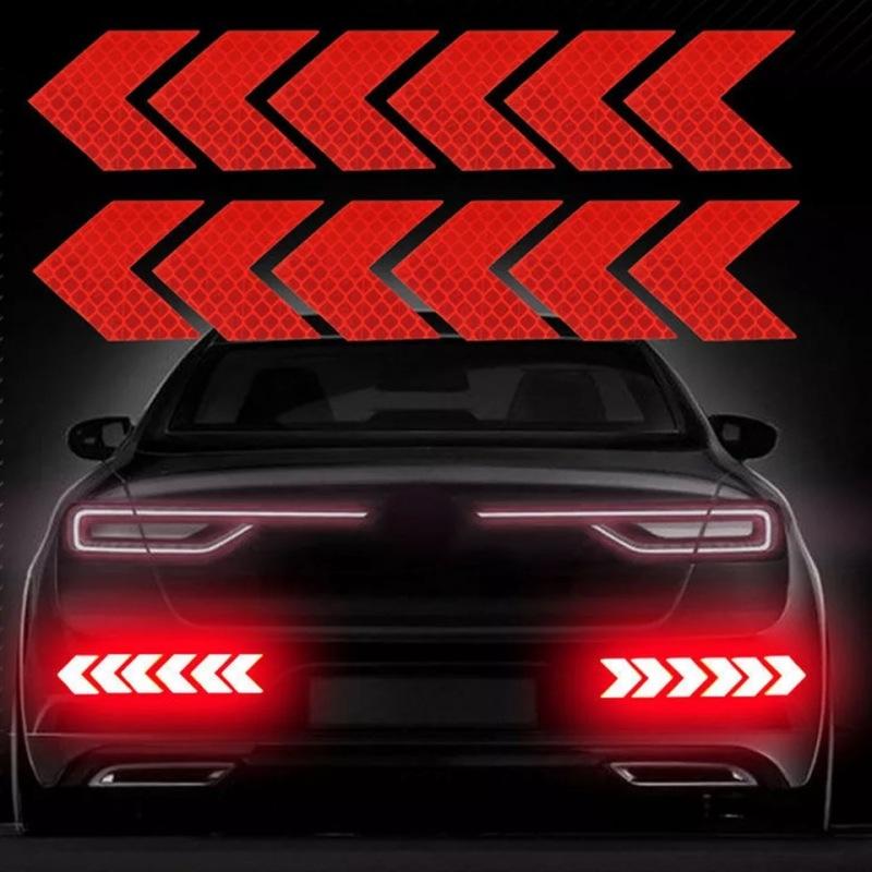 Bộ 12 miếng dán phản quang vành xe, miếng dán phản quang phát sáng
