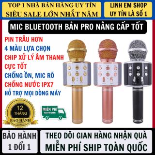 Micro Không Dây Karaoke Bluetooth Phiên Bản Nâng Cấp Âm Thanh Hay Hơn Pin Trâu Chống Ồn Lọc Tạp Âm Hỗ Trợ Mọi Dòng Máy, Micro Karaoke Bluetooth thumbnail