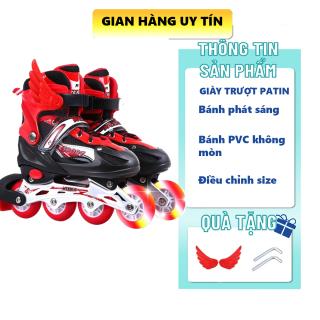 Cách chọn giày trượt patin cho trẻ em, Giày Patin Cho Người Mới Tập Chống Trẹo Chân Giữ Thăng Bằng Full Size, Giày Trượt Patin Trẻ Em Cánh Tiên Phát Sáng, Tặng Full Đồ Bảo Hộ, Được Đổi Size Nếu Không Vừa thumbnail