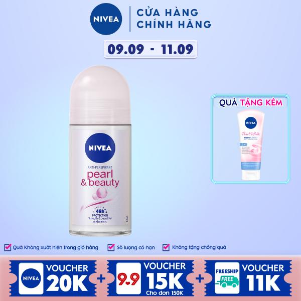 [Tặng Sữa Rửa Mặt 20gr] Lăn Ngăn Mùi NIVEA Pearl & Beauty Ngọc Trai Quyến Rũ (50ml) - 83735