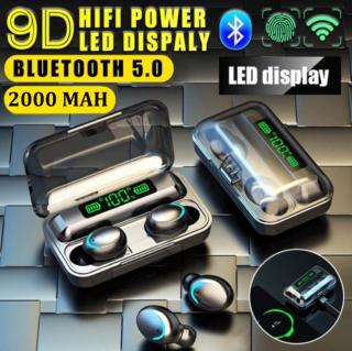 Tai nghe bluetooth Amoi F9 -5, Phiên bản tai nghe không dây nâng cấp của tai nghe F9, công nghệ cảm ứng, mở nắp tự kết nối, chống nước, chống ồn, âm thanh HD, kén sạc 2000 mAh kiêm sạc dự phòng 2