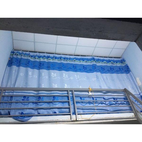 rèm móc phẳng chắn phòng, che gác xép rộng 4m x cao 2m