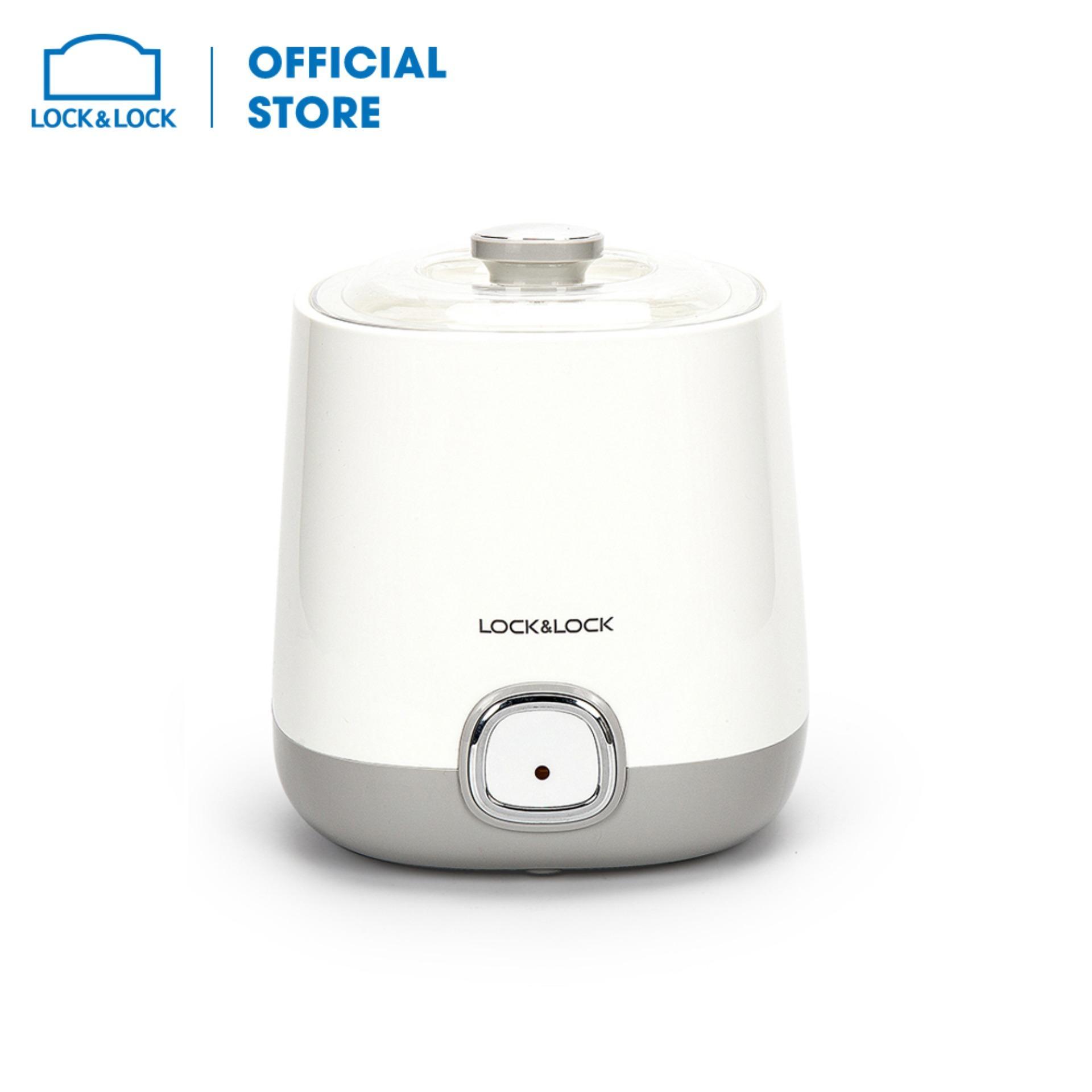 Máy làm sữa chua Lock&Lock EJY110SLV - Dung tích 1000ml - Công suất 20W - Dễ dàng vệ sinh - Hàng chính hãng